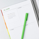 Weekly plan - 2021 Black Quote PU hardcover dated weekly planner