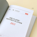 Intro - Wanna This 2021 Month classic medium dated monthly planner