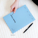 Romance blue - Wanna This 2021 Month classic large dated monthly planner