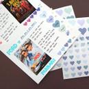 Usage example - PLEPLE Love in life heart sticker 12 sheet set