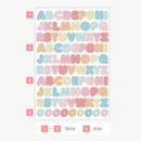 PLEPLE Upper case Alphabet sticker 8 sheets set
