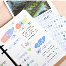 Usage example - PLEPLE Upper case Alphabet sticker 8 sheets set