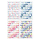 Set of 8 sheets - PLEPLE Upper case Alphabet sticker 8 sheets set