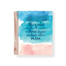 2021 Watercolor Quote spiral dated weekly planner