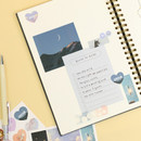 Usage example - PAPERIAN Diary deco removable sticker 8 sheets set