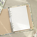 Usage example - PAPERIAN Florence A5 size 6 ring binder with elastic band