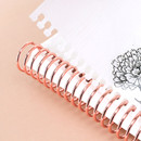 Spiral binding - 2021 Floral natural spiral dated weekly planner