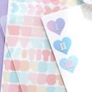PLEPLE Number sticker 8 sheets set