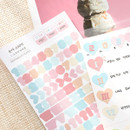 Usage example - PLEPLE Number sticker 8 sheets set