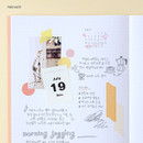 Free note - Wanna This 2021 Delight log large dated monthly diary