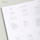 Yearly plan - Wanna This 2021 Delight log medium dated monthly diary