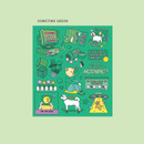 Sometime green - Ardium Pop illustration colorful point paper sticker ver5