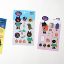 Usage example - GMZ Kitsch heart hologram removable sticker 1-16