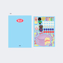 Sky - GMZ 2021 Kitsch heart dated weekly diary planner