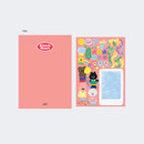 Pink - GMZ 2021 Kitsch heart dated weekly diary planner