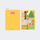 Yellow - GMZ 2021 Kitsch heart dated weekly diary planner
