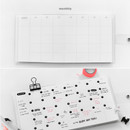 Monthly plan - Yearly plan - 2NUL Square drawing dateless weekly diary planner