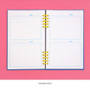 Squared note - Ardium Color pop 10 rings dateless monthly diary planner
