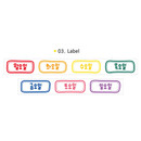 03 Label - Wanna This Korean day of the week paper masking tape