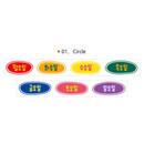01 Circle - Wanna This Korean day of the week paper masking tape