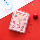 Cherry coke - Second Mansion Juicy bear 3 ring grid notebook