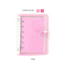 Pink - Wanna This Picnic check A7 6-ring dateless monthly planner