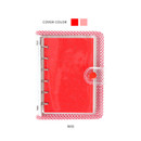 Red - Wanna This Picnic check A7 6-ring dateless monthly planner