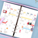Monthly plan - Wanna This Picnic check A6 6-ring dateless monthly planner