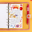 Blank - Wanna This Picnic check A6 6-ring dateless monthly planner
