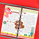 Grid - Wanna This Picnic check A6 6-ring dateless monthly planner