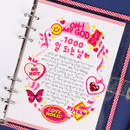 Blank note - Wanna This Picnic check A5 6-ring dateless monthly planner