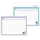 Monthly plan - Design Comma-B 2021 Retro handy dated monthly desk scheduler