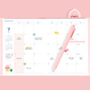 Monthly plan - Kakao Friends 2021 Friends bookmark dated weekly diary