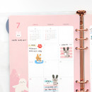 Usage example - 2021 Chou Chou A5 6 hole dated monthly plan paper refill set