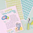 Usage example - Wanna This Ddung phabet pastel Alphabet letter sticker