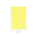 Yellow - Wanna This Ddung phabet pastel Alphabet letter sticker