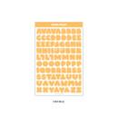 Orange - Wanna This Ddung phabet pastel Alphabet letter sticker