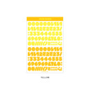 Yellow - Wanna This Ddung phabet bold Number letter sticker