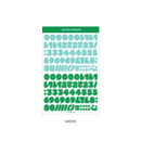 Green - Wanna This Ddung phabet bold Number letter sticker