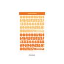 Orange - Wanna This Ddung phabet bold Number letter sticker