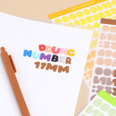 Wanna This Ddung phabet bold Number letter sticker