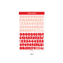 Red - Wanna This Ddung phabet bold Number letter sticker