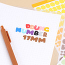 Wanna This Ddung phabet bold Alphabet Number sticker set
