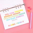Alphabet pastel set - Wanna This Ddung phabet bold Alphabet Number sticker set