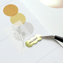Usage example - Indigo Gold shiny decoration adhesive sticker