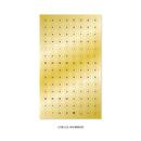 Circle Number - Indigo Gold shiny decoration adhesive sticker