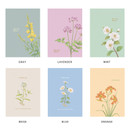 Color - Indigo A Flowery day dated daily diary journal