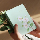 Mint - Indigo A Flowery day dated daily diary journal