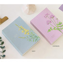 Gray, Pink - Indigo A Flowery day dated daily diary journal