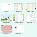 Planner sections - ICONIC 2021 Doremi dated weekly diary planner
